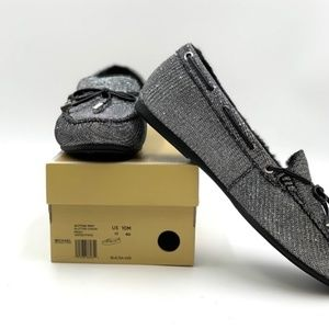 MICHAEL KORS Sutton Moc Glitter Chain Moc Loafers